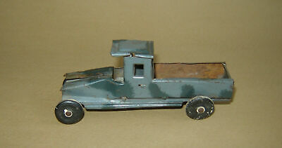 Antique Very OLD TIN TOY ORIGINAL PAINT MILITARY Car Truck
