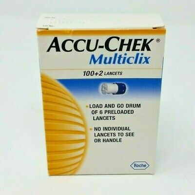New Accu-Chek Multiclix 102 Load And Go Drum Of 6 Preloaded Lancets Exp. 11/2019