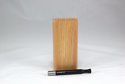 "4"" Classic Flaxinus Wood Dugout One Hitter Slide Top With Black Shark Tip Bat"