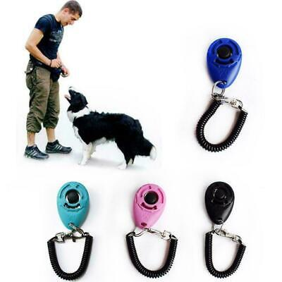 Dog Training Click Whistle Clicker Pet Guide Obedience Pets Trainer Click P O7Y9