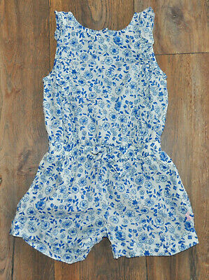 JOULES Girls FLORAL Playsuit Outfit Summer Holiday Shorts Age 5 Years Cotton