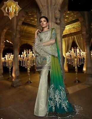 Brand New Pakistani Indian bridal wear heavy embroidered salwar kameez dress