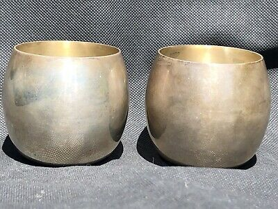 """A Pair of Rare Tiffany & Co. Sterling Silver 25064 Cups 2 1/2"""" Tall Hallmarked"""