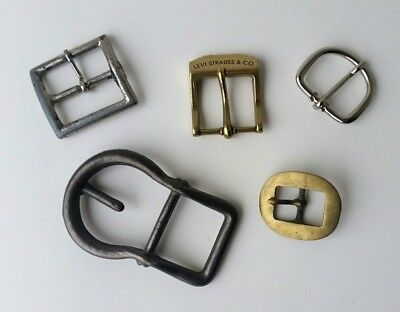 Buckles Solid Brass Stainless Belts Leather Oval Tack Horse Headstall Lot of 5