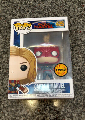 FUNKO POP! Captain Marvel #425 LIMITED CHASE EDITION New, Box Damage
