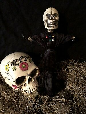 Authentic Voodoo Doll Black-With Pins