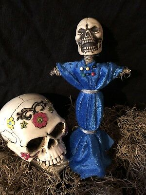 Authentic Voodoo Doll Blue-With Pins