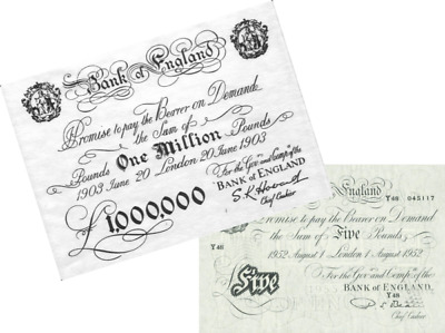 Million pound note.. £1,000,000 Plus Old English Five Pound Note NEW NEW NEW