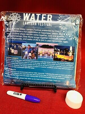 """Floating Paper Water Wishing Candle Light Lantern Festival Gift 7.5"""" square-4.5T"""