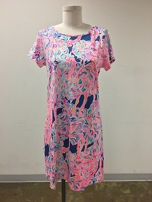 34adcdb8efde72 LILLY PULITZER MARLOWE Dress - Pelican Pink Head In The Sand Large ...