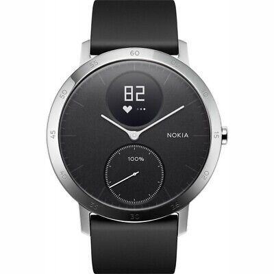 Nokia Activite Steel Hr 40mm Nero Smartwatch Fitness Tracker BT #Sehrgut