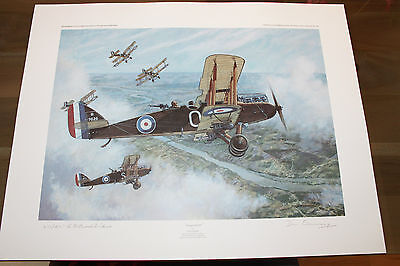 Don Connolly - Target at 270 - Aviation Art - DH9 - Signed by WW1 Pilot