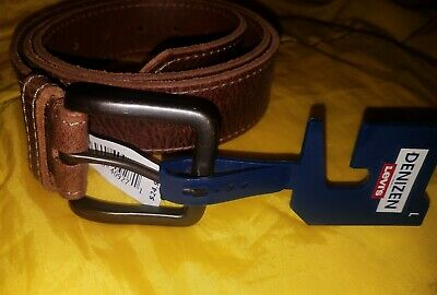 Denizen from Levi's Men's Brown Genuine Leather Belt LARGE 36-40 [New with Tags]
