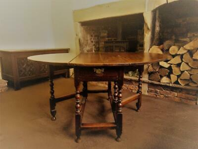 A Late 17th Century English Joined Gate Leg Table