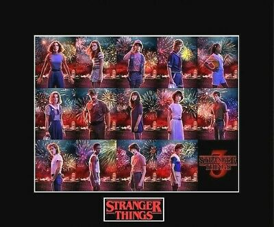 "STRANGER THINGS 3 Cast 8""x10"" Photo - 11""x14"" Matted"
