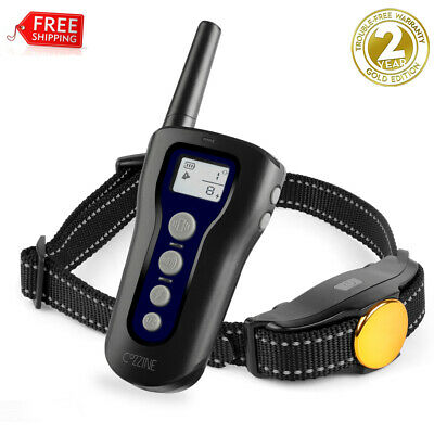 328 Yard Dog Shock Collar Remote Waterproof Electric Recharge For Pet Training