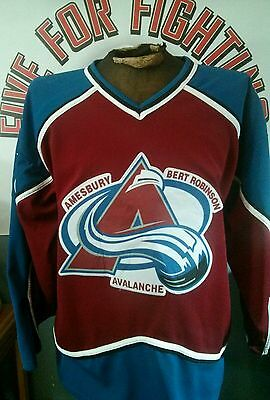 buy online d2474 fa65b AMESBURY AVALANCHE GAME worn jersey OHA OMHA Colorado Avalanche