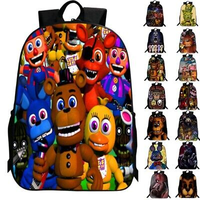 Five Nights At Freddy's Freddy Backpack Chica Foxy Bonnie FNAF School Bags
