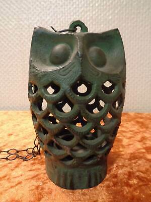 Japan Teelicht- Windlichtthalter - Cast Iron Patinised - Owl - Vintage Style