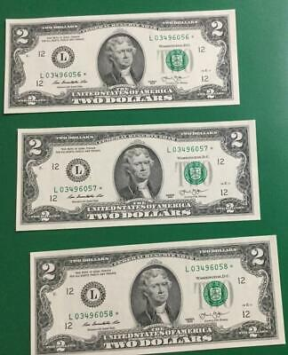 2013 $2 Choice Crisp Uncirculated *** 3 STARs *** San Francisco Old Money