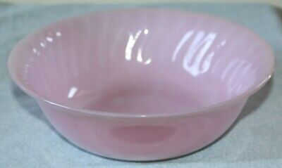 Vintage Pink Roseite Swirl Fire-King Large Bowl 8 inch Oven Ware Fire King Rare