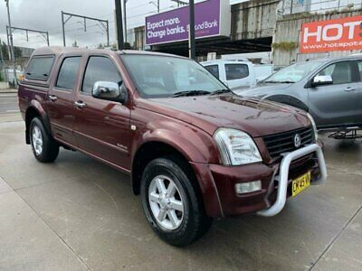 2004 Holden Rodeo RA LT Red Manual M Utility