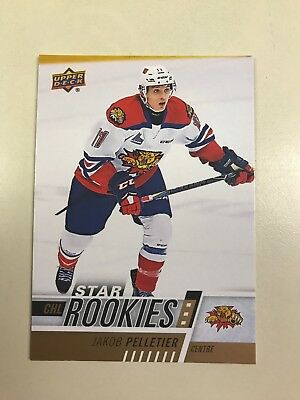 2017-18 Upper Deck CHL Star Rookies NHL Draft Prospect Jakob Pelletier Wildcats