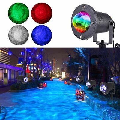 Remote RGB LED Water Wave Ripple Effect Stage Light Lighting Laser Projector AU