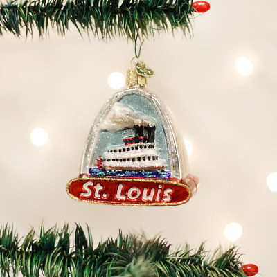 Old World Christmas St Louis Arch Gateway Arch Glass Christmas Ornament 20073