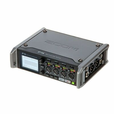 Zoom F4 Multitrack Field Recorder 6-in/4-out Field Audio Recorder/Mixer and USB