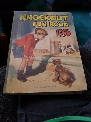 Knockout Fun Book 1956 X VERY GOOD CONDITION FOR AGE X 2415 X