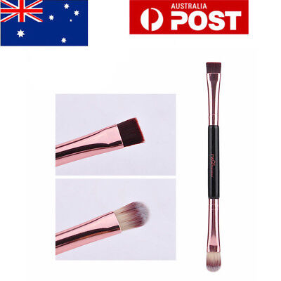 AU Duo Brow Makeup Brush Handle Double Sided Eyebrow Flat Angled Brushes MSQ
