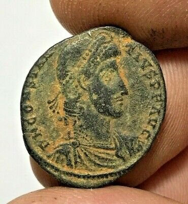 ANCIENT ROMAN BRONZE COIN CONSTANTIUS LARGE  3.6gr 24.6mm