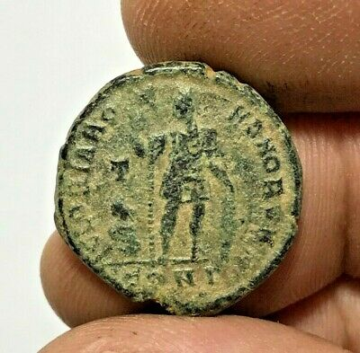 ANCIENT ROMAN BRONZE COIN ARCADIUS LARGE  6.6gr 23.5mm