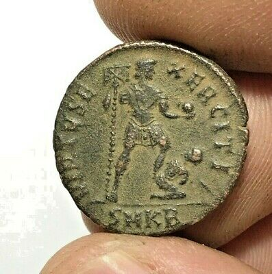 ANCIENT ROMAN BRONZE COIN THEODOSIUS LARGE  4.4gr 22.9mm
