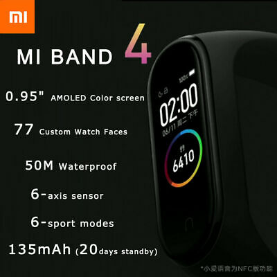 Xiaomi Mi Band 4 Bluetooth 5.0 Smartwatch AMOLED Anzeige Sport Fitness Tracker