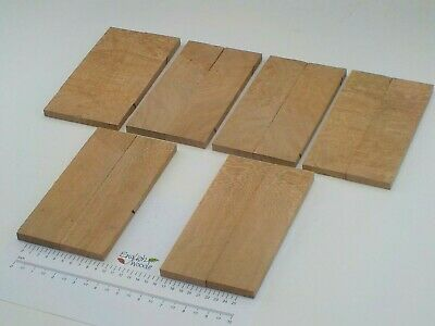 6 pairs book matched Pippy English Lacewood knife scales. 53 x 205 x 10mm. 3354