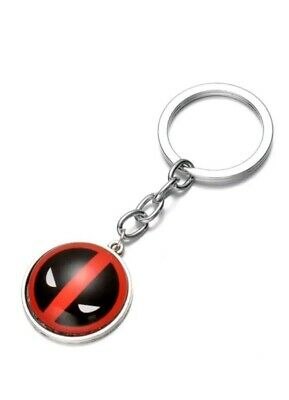 Marvel Deadpool Keyring. Silver Alloy Design. Superhero Merchandise