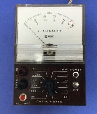 Rare Vintage Knight Model 55015 R/C Resistance Capacitance Tester Capacimeter