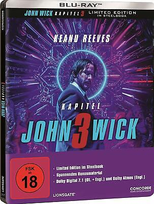 John Wick: Chapter 3 - Parabellum (Blu-ray Steelbook) NEW / SEALED - PRE-ORDER