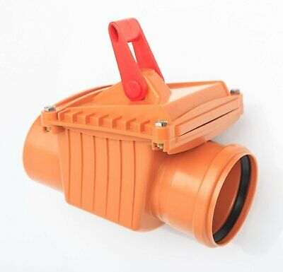 110mm Drainage Non Return One Way Valve with Anti Flood Lock Rodent Barrier