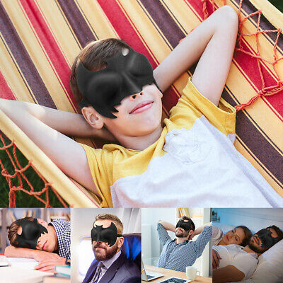 3D Sleep Eye Mask Blackout Soft Memory Foam Travel Sleeping Blindfold Sleep Aid