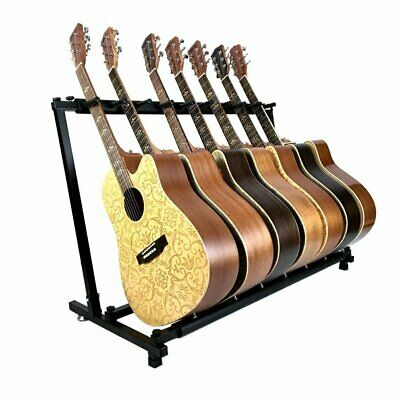 7-Way Multi Guitar Stand Foldable Acoustic Electric Bass Guitar Rack Holder NEW