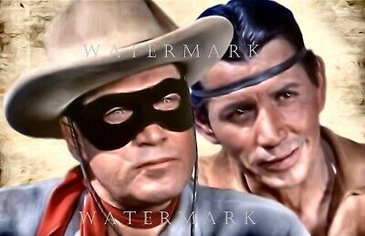 CLAYTON MOORE JAY SILVERHEELS THE LONE RANGER & TONTO Digital Oil Painting 8x10