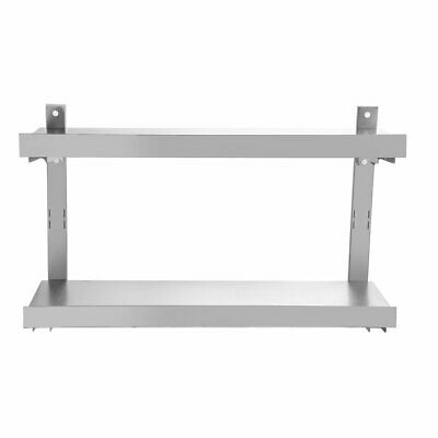Commercial Kitchen Stainless Steel Single Over Shelf For Prep Tables 100 X 30cm