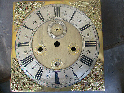 William and Mary small original clock dial Mansell Bennett London