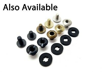 Chicago Screws Book Binding posts - leather kydex various finishes 10pk
