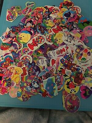 Vtg Lisa Frank Stickers Cutups 15 Count Surprise Lot Music Unicorn Animals Candy