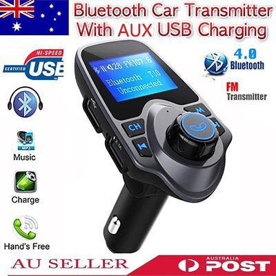 VICTSING Wireless LCD Bluetooth Car Kit FM Transmitter MP3 AUX Disk USB Charger