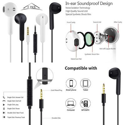 3Pack Audio Music Headphones Head Phones Ear Phone Buds for CD MP3 PC MAC